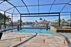 Pool deck water drain